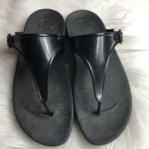 Euc Black jelly Fitflop sandals 9